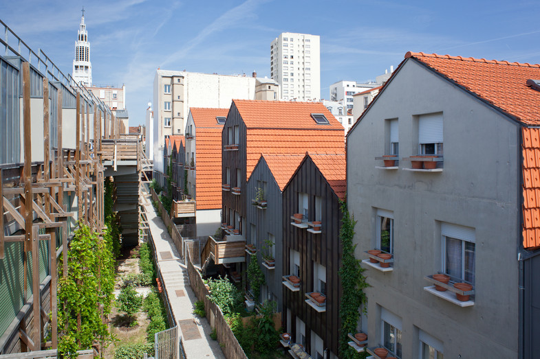 Logements sociaux à Paris - Edouard François arch. (photo © David Boureau)